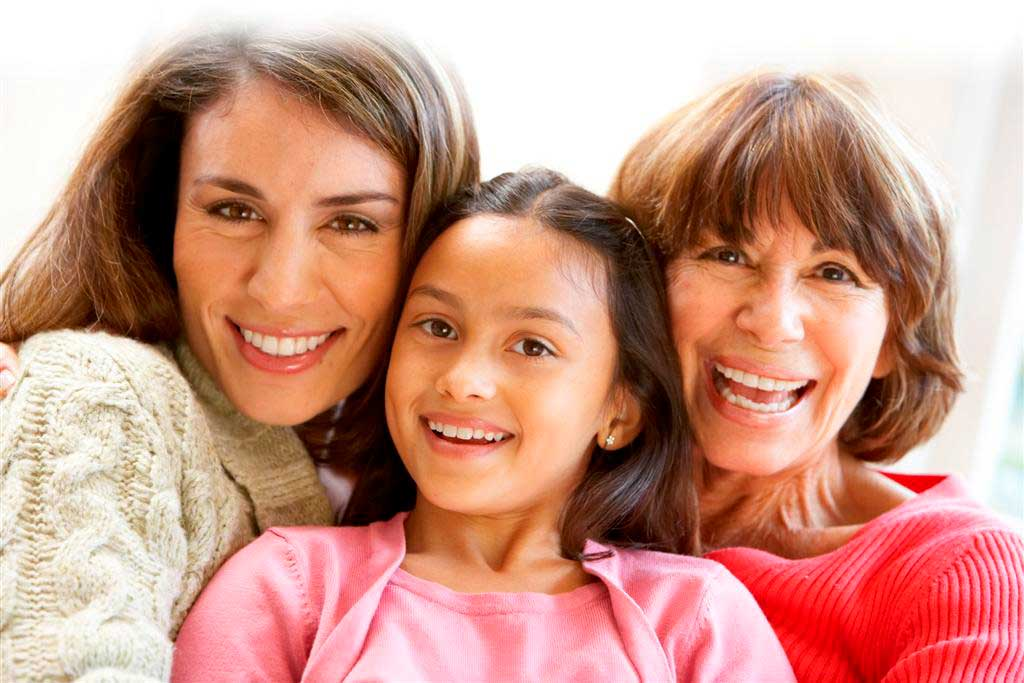 photo of three generations of hispanic women