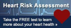 heart risk assessment test button